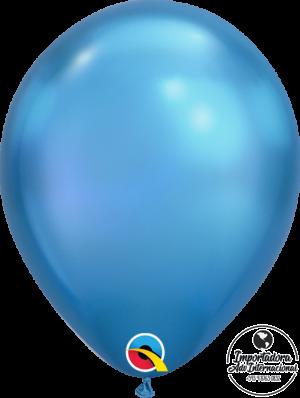 globo azul cromado qualatex